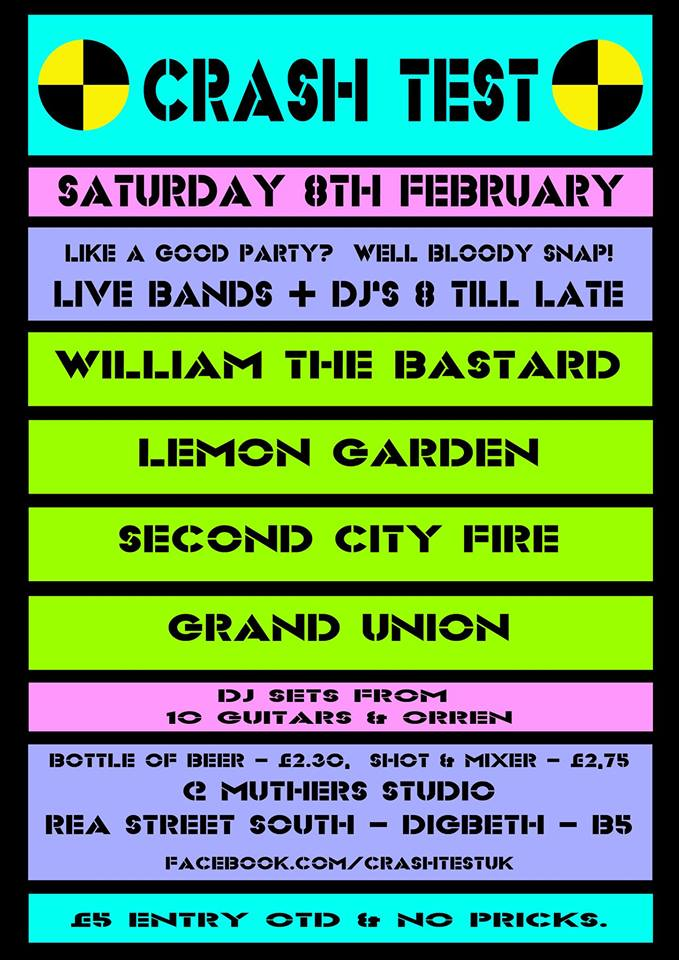Sat 8th Feb 8pm until late