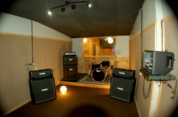 Recording live room at Muthers Studio Birmingham.